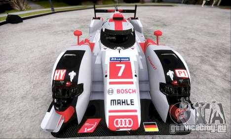 Audi R18 E-Tron Quattro 2015 для GTA San Andreas вид сзади слева
