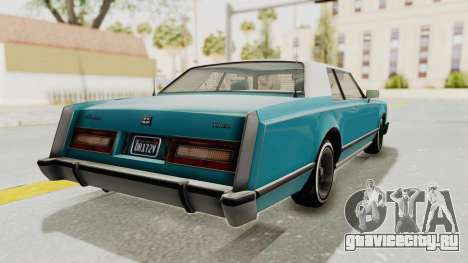 GTA 5 Dundreary Virgo Classic Custom v3 для GTA San Andreas вид слева