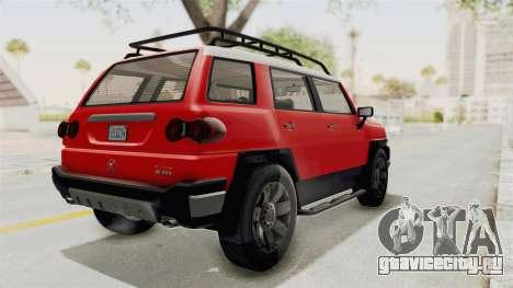 GTA 5 Karin Beejay XL IVF для GTA San Andreas вид сзади слева
