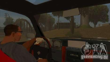 Nissan Patrol Y61 для GTA San Andreas вид изнутри
