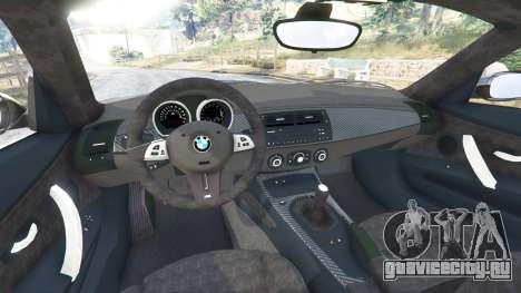 BMW Z4 M (E86) 2008 для GTA 5 вид сзади справа