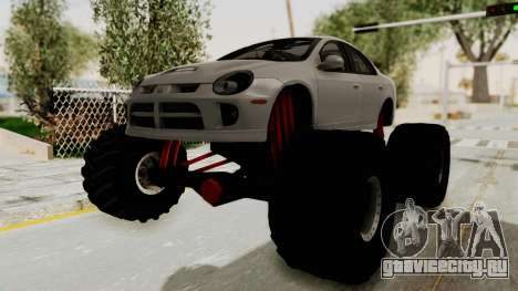 Dodge Neon Monster Truck для GTA San Andreas вид сзади слева