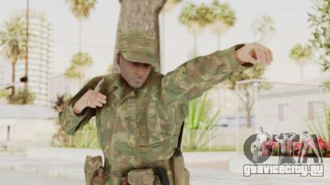MGSV Ground Zeroes US Soldier Armed v1 для GTA San Andreas