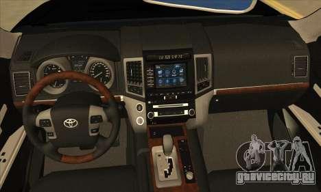 Toyota Land-Cruiser 200 для GTA San Andreas вид изнутри