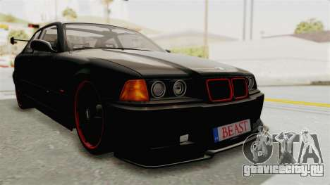 BMW M3 E36 Beast для GTA San Andreas вид сзади слева
