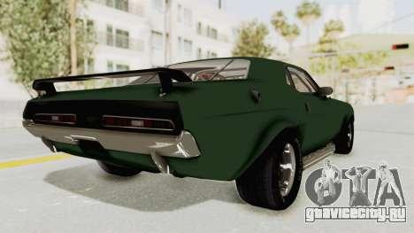 Dodge Challenger 1971 для GTA San Andreas вид слева
