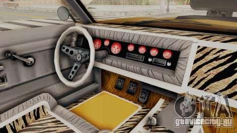 GTA 5 Declasse Sabre GT2 B IVF для GTA San Andreas вид сбоку