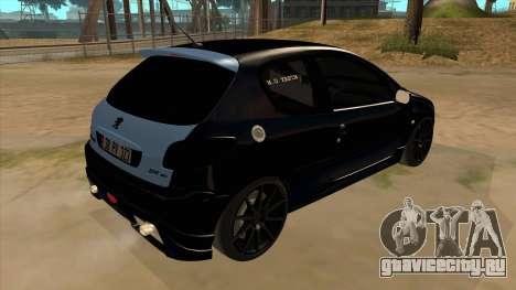 Peugeot 206 MO Edit для GTA San Andreas вид справа