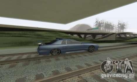 Стандартная Elegy с выдвижным спойлером для GTA San Andreas вид изнутри