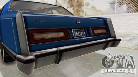 GTA 5 Dundreary Virgo Classic Custom v1 IVF для GTA San Andreas вид снизу
