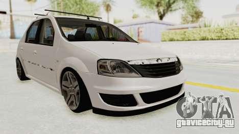 Dacia Logan 2013 для GTA San Andreas вид справа