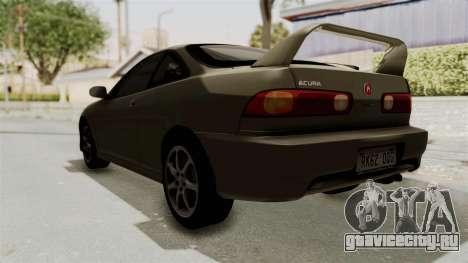 Acura Integra Fast N Furious для GTA San Andreas вид сзади слева