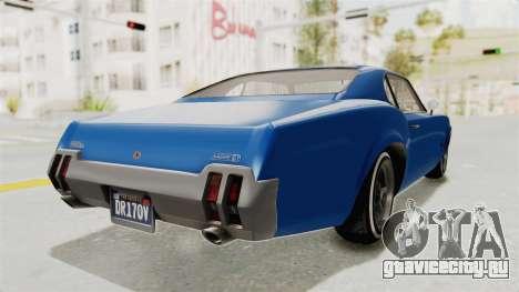 GTA 5 Declasse Sabre GT2 A для GTA San Andreas вид справа