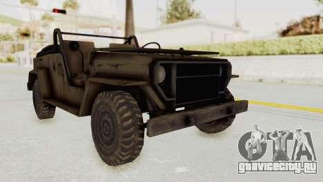 MGSV Jeep No LMG для GTA San Andreas