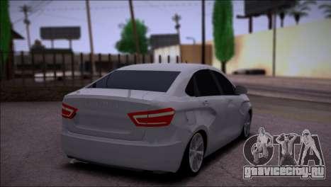Lada Vesta Stock для GTA San Andreas вид справа