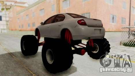 Dodge Neon Monster Truck для GTA San Andreas вид слева