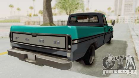 Ford F-150 Black Whells Edition для GTA San Andreas вид сзади слева