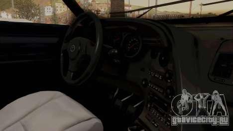 Jester Supra для GTA San Andreas вид изнутри