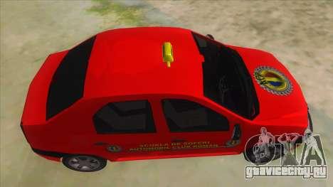 Dacia Logan Scoala для GTA San Andreas вид изнутри