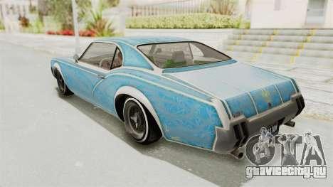 GTA 5 Declasse Sabre GT2 B для GTA San Andreas колёса