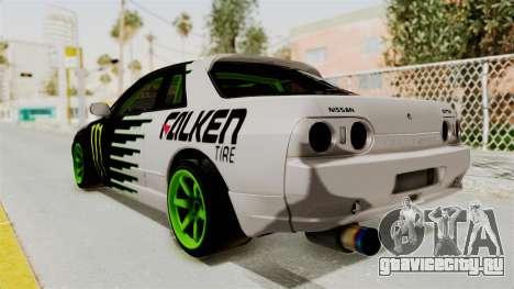 Nissan Skyline R32 Drift Monster Energy Falken для GTA San Andreas вид слева