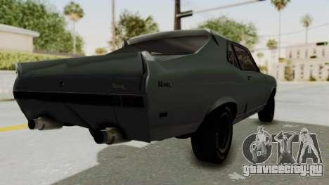 Chevrolet Nova 1969 StreetStyle для GTA San Andreas вид сзади слева