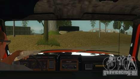 1984 Ford F150 Final для GTA San Andreas вид изнутри