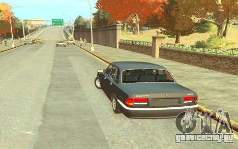 ГАЗ 3110 для GTA 4 вид сзади слева