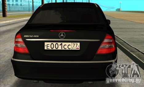 Mercedes-Benz E55 W211 AMG для GTA San Andreas вид справа