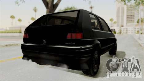 Volkswagen Golf 2 Tuning для GTA San Andreas вид сзади слева