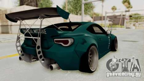 Scion FRS Rocket Bunny Killagram v1.0 для GTA San Andreas вид слева