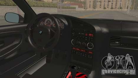 BMW M3 E36 Beast для GTA San Andreas вид изнутри
