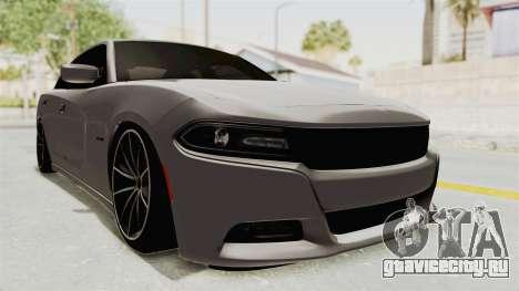 Dodge Charger RT 2015 для GTA San Andreas вид сзади слева