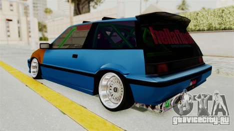 Honda Civic EF9 HellaFlush для GTA San Andreas вид слева