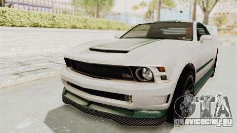 GTA 5 Vapid Dominator v2 SA Style для GTA San Andreas вид сверху