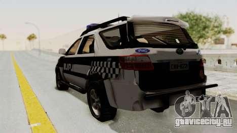 Toyota Fortuner JPJ White для GTA San Andreas вид слева