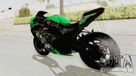 Kawasaki Ninja 250FI Kochiya Sanae Itasha для GTA San Andreas вид слева