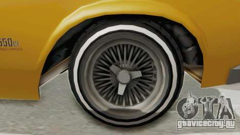 GTA 5 Declasse Sabre GT2 B IVF для GTA San Andreas вид сзади