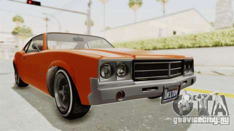 GTA 5 Declasse Sabre GT2 B для GTA San Andreas вид справа