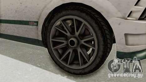 GTA 5 Vapid Dominator v2 SA Style для GTA San Andreas вид сзади