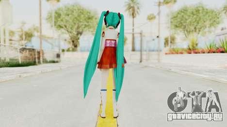 Project Diva F2nd - Hatsune Miku (Shrine Maiden) для GTA San Andreas третий скриншот