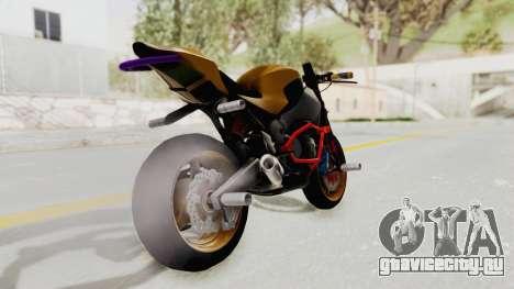 Honda CBR1000RR Naked Bike Stunt для GTA San Andreas вид слева