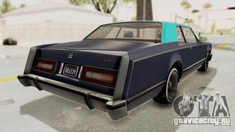 GTA 5 Dundreary Virgo Classic Custom v2 IVF для GTA San Andreas вид слева
