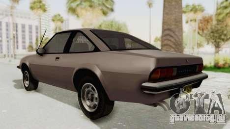 Vauxhall Cavalier MK1 Coupe для GTA San Andreas вид сзади слева