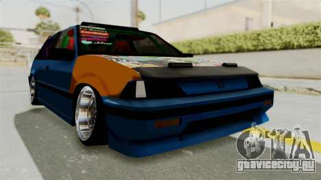 Honda Civic EF9 HellaFlush для GTA San Andreas вид справа