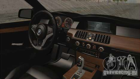 BMW 530D E60 для GTA San Andreas вид изнутри