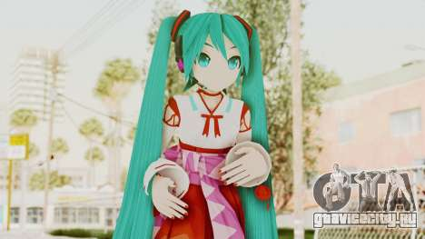 Project Diva F2nd - Hatsune Miku (Shrine Maiden) для GTA San Andreas