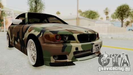 BMW 3 Series E46 для GTA San Andreas вид сзади слева