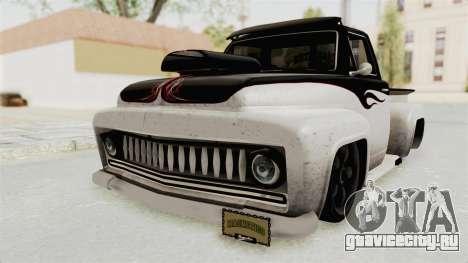 GTA 5 Slamvan Lowrider PJ1 для GTA San Andreas вид сзади слева