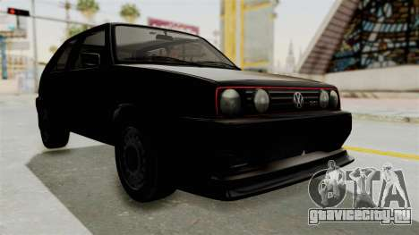 Volkswagen Golf 2 Tuning для GTA San Andreas вид справа